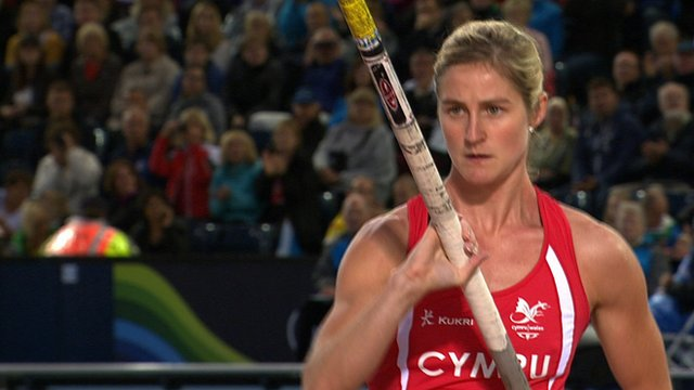 Sally Peake claims silver for Wales in the pole vault