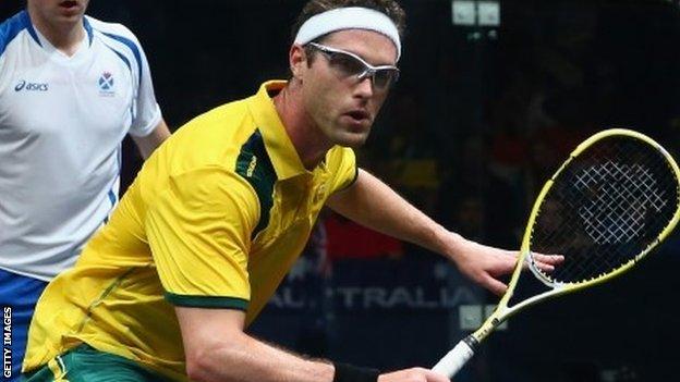 Australian squash player David Palmer