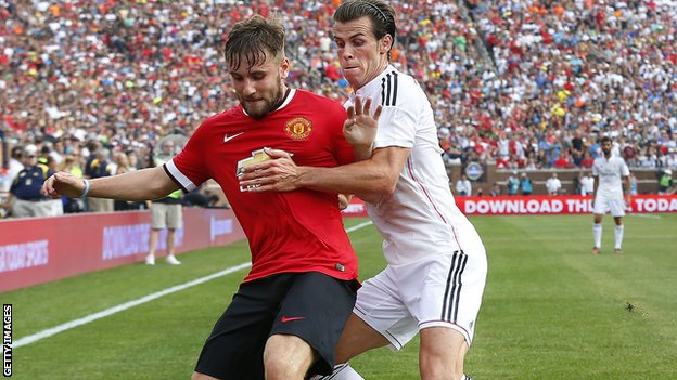 Luke Shaw and Gareth Bale