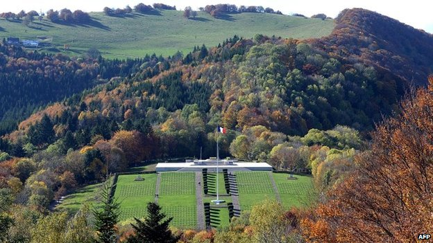 The Vieil Armand cemetery, formerly called Hartmannswillerkopf, in the Alsace region of France - 24 October 2013