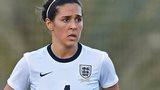 Fara Williams playing for England