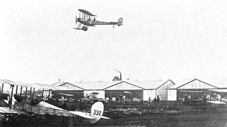 Aircraft at Montrose air base a century ago