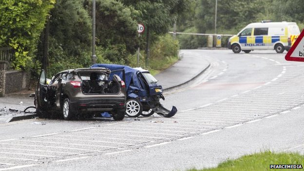 Two vehicles collided on the Dublin Road in Newry