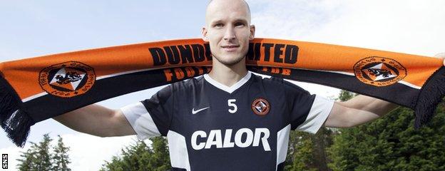 Dundee United defender Jaroslaw Fojut