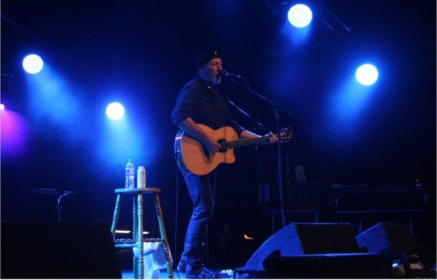 Richard Thompson on the main stage on Friday night.