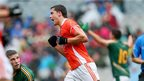 Stefan Campbell celebrates after scoring a point for Armagh as the Ulster county impress against Meath