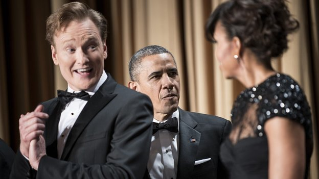 Conan O'Brien, Barack and Michelle Obama