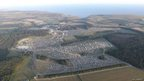 Camp Bestival site from police helicopter