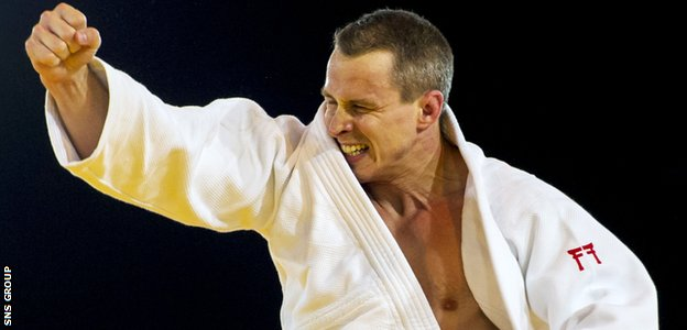 Euan Burton delivered one of six judo golds for the host nation