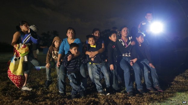 Central American migrants in Texas, 23 July 2014