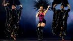 Singer Kylie Minogue performs during the Closing Ceremony for the Glasgow 2014 Commonwealth Games at Hampden Park