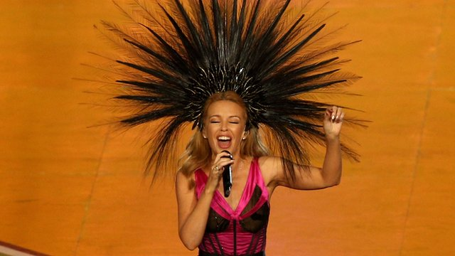 Glasgow 2014: Kylie Minogue performs at closing ceremony
