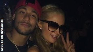 Neymar and Paris Hilton