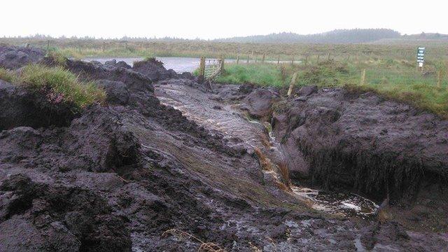 Landslide near Cushendall