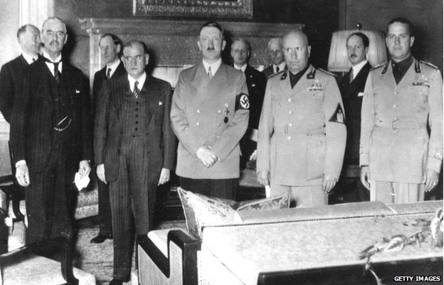 Chamberlain and Hitler conference