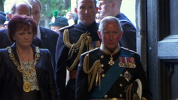 Prince Charles at Glasgow Cathedral