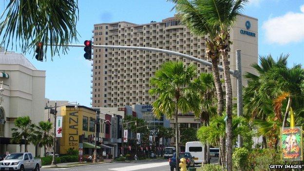 Guam street scene