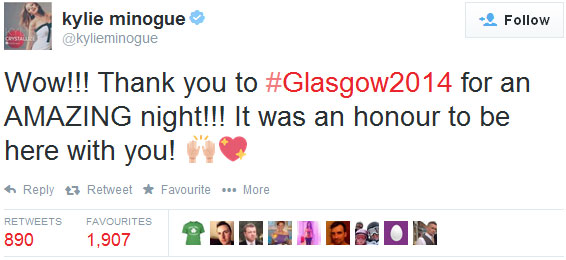 Kylie Minogue tweet