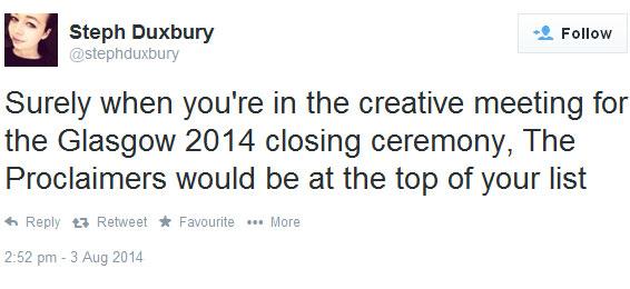 Steph Duxbury tweet