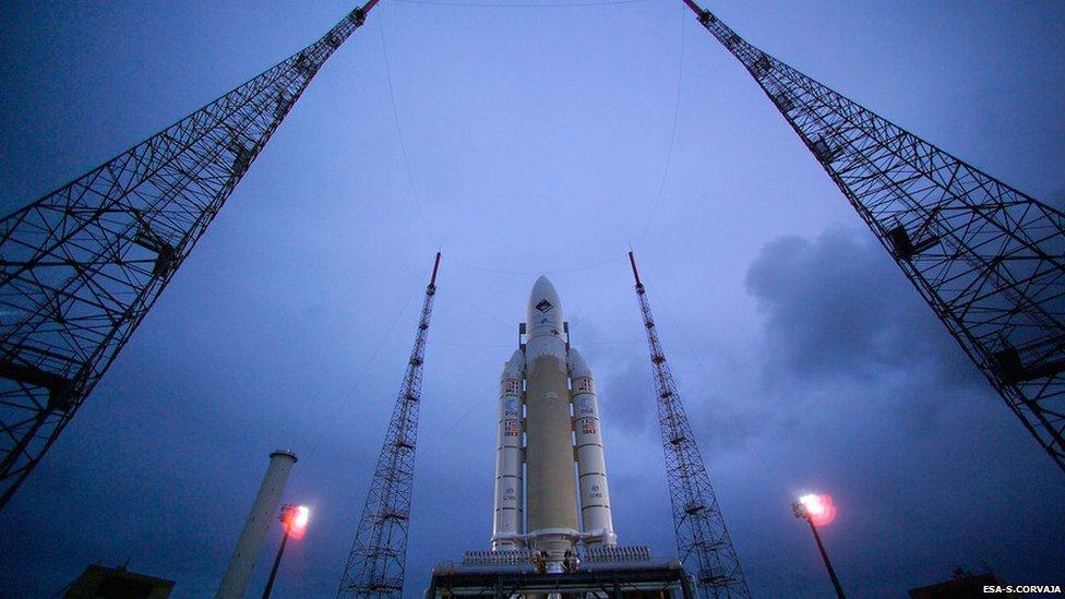 Ariane liftoff