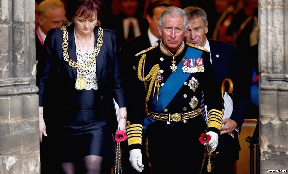 Prince Charles also attended the commemoration ceremony in Glasgow.