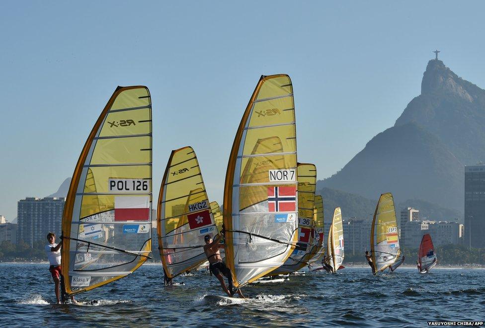 Windsurfers in Rio
