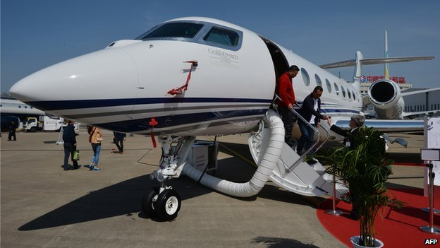 Gulfstream jet at an airshow - file pic