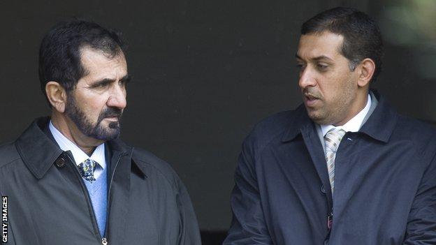 Sheikh Mohammed and Mahmood Al Zarooni