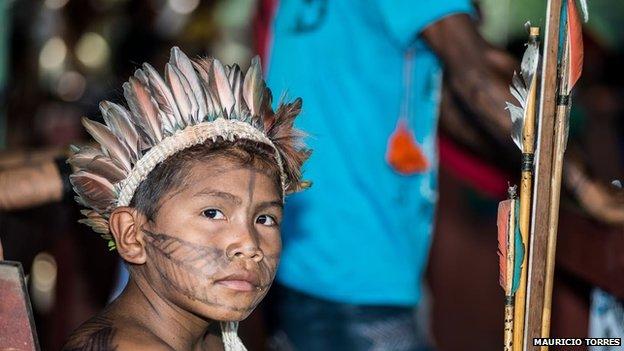Munduruku child in April 2014