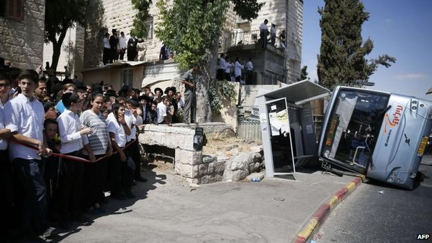 An attack on a bus in Jerusalem, 4 Aug