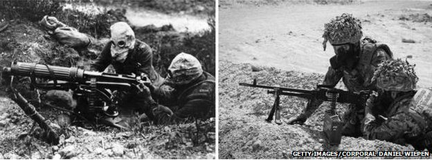 Iconic WW1 photo recreated