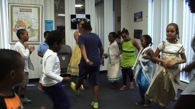 American-Ethiopian children at Washington's Ethiopian Community Centre