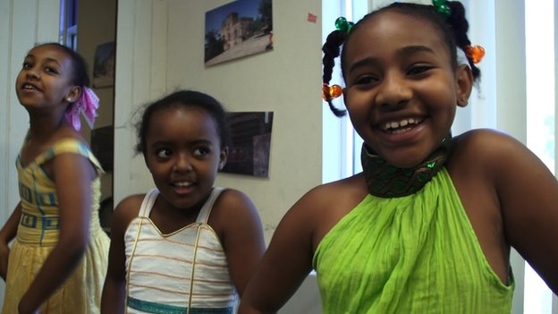 Ethiopian American children in Washington