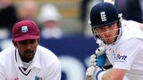 West Indies' Denesh Ramdin and England's Ian Bell
