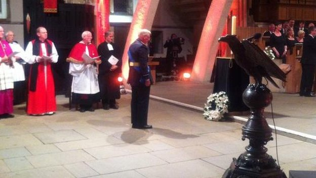 Duke of Gloucester at Llandaff Cathedral