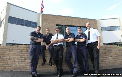 Blue Watch at the now-closed Cradley Heath fire station at the new Haden Cross building