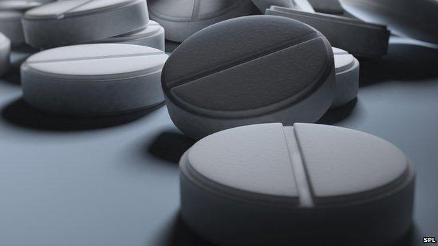Picture of aspirin pills