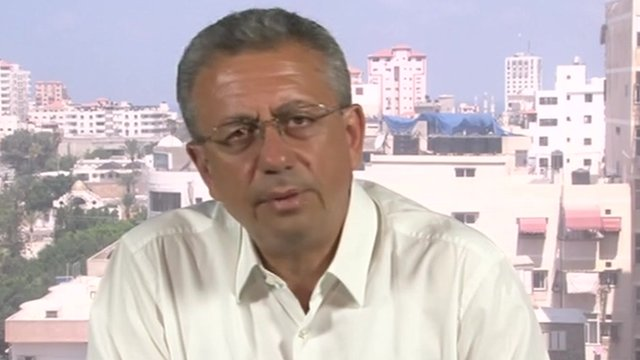 Mustafa Barghouti, leader of the Palestinian National Initiative