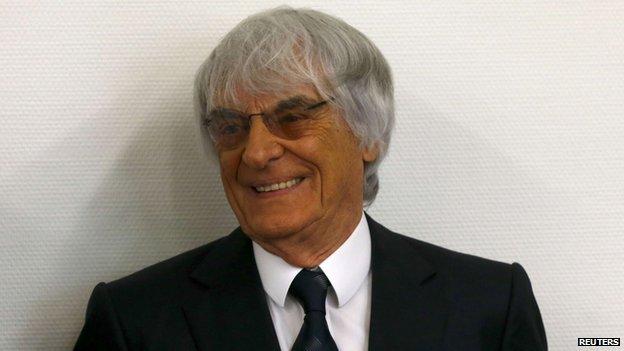 F1 boss Bernie Ecclestone, 5 Aug 14
