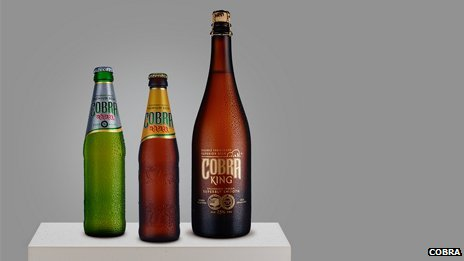 Various bottles of Cobra Beer