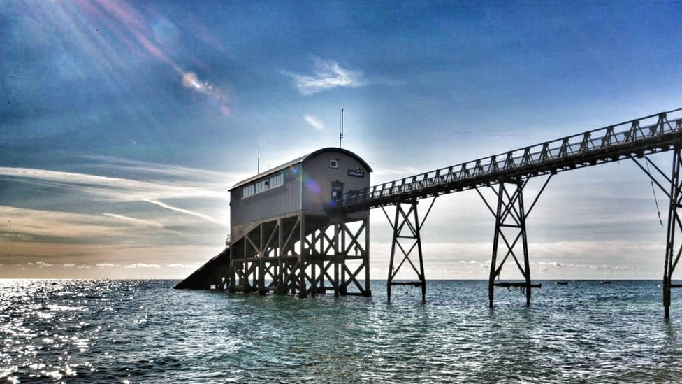 RNLI Lifeboat Station at Selsey in West Sussex.