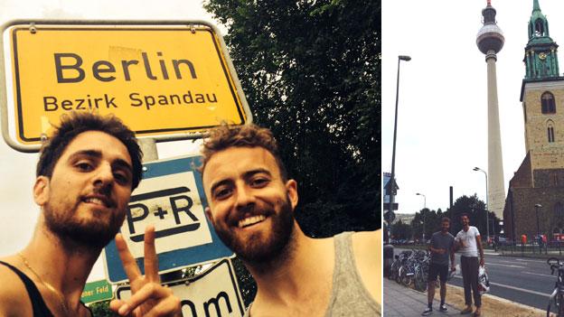 Josh Sheppard and Sean Bloomfield in Berlin