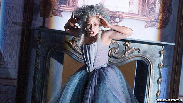 German soprano Christiane Karg performing in La finta giardiniera at Glyndebourne