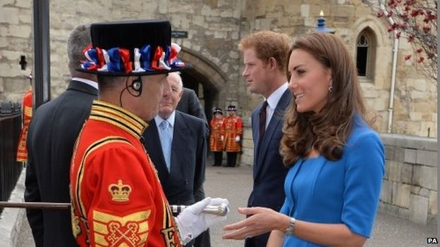 Tower of London Yeoman and the Duchess of Cambridge