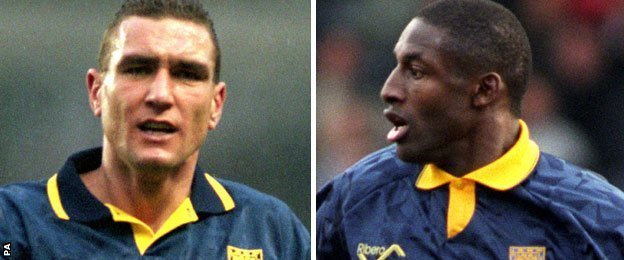 Vinnie Jones and John Fashanu