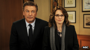 Alec Baldwin and Tina Fey in 30 Rock