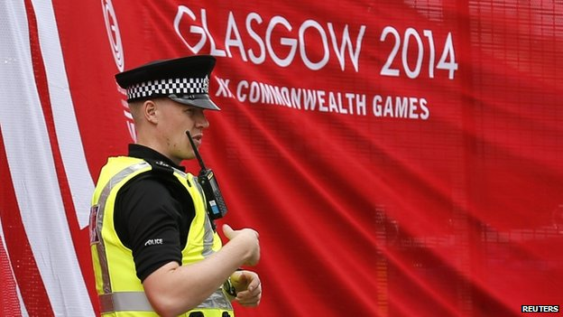 Police officer at the Commonwealth Games