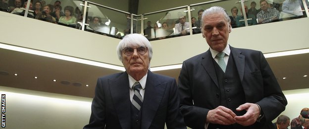 Bernie Ecclestone and his lawyer Sven Thomas