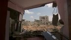 Remains of a house in Gaza