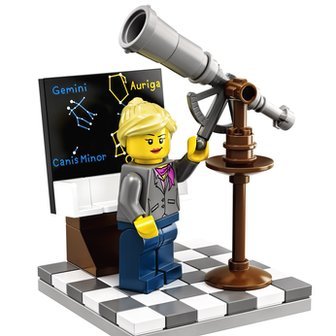 The Lego female astronomer